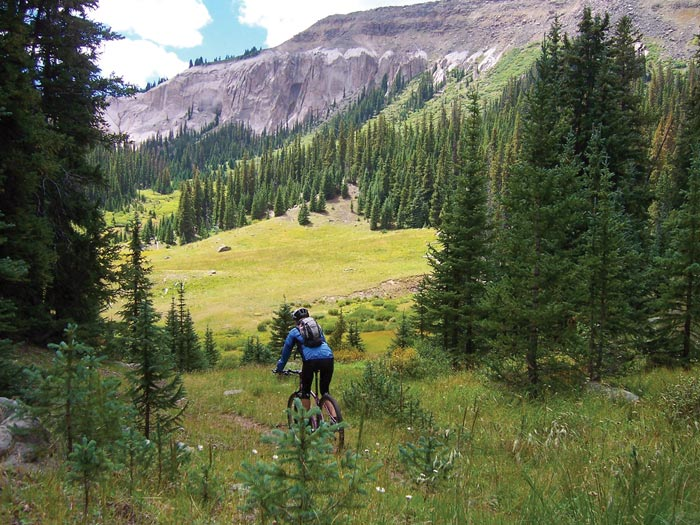 Mountain Biking near South Fork, Colo.