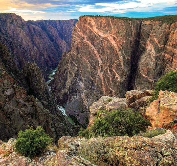 Painted Wall at Black Canyon of the Gunnison National Park