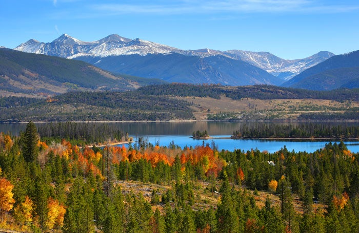 Dillon Reservoir in autumn