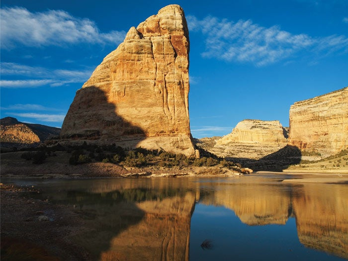 Echo Park's Steamboat Rock in Dinosaur National Monument