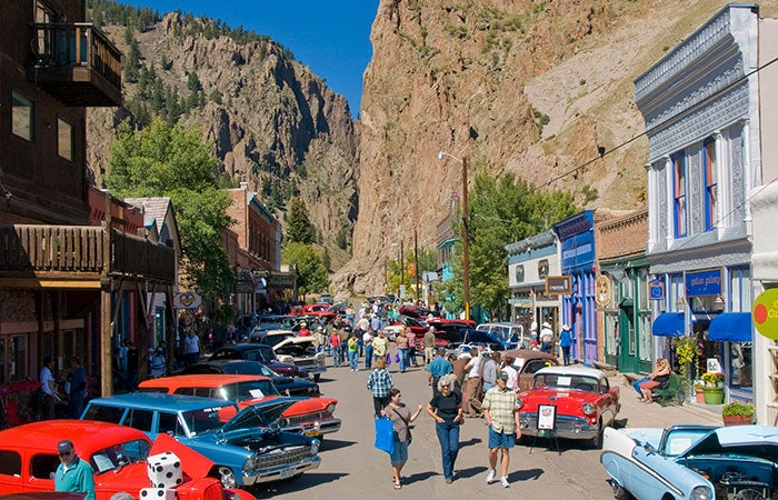 Fall car show in Creede, Colorado