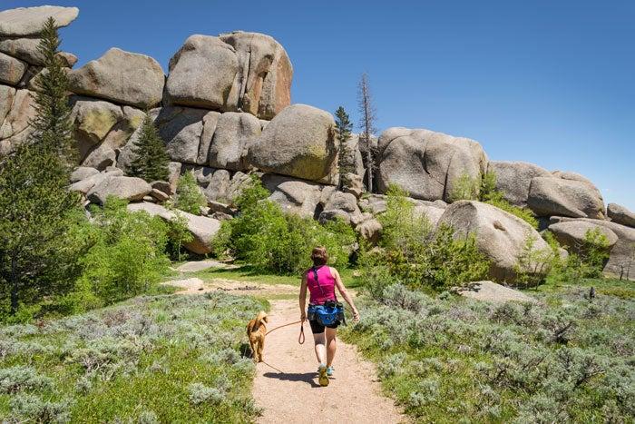 Hiking Vedauwoo Recreation Area in Wyoming near Cheyenne